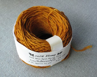 Butterscotch 10/6 Hemp Yarn