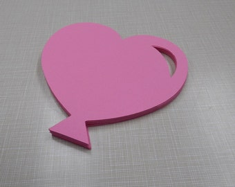 16 Heart Shaped Balloon Die Cuts, 4 Inches, Tags, Banners, Party Decor
