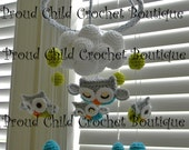 Owl crochet Mobile