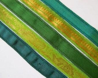 Silk Ribbon, Wrap Yoga Bracelet Ribbon,  WR12