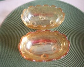 Candy Dishes, Floragold Louisa, Jeannette Glass Co.