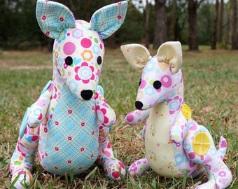 Melly and Me Hop and Skip Kangaroo Toy Sewing Pattern - Make Believe Horsey - 2 sizes included - NOT a finished item