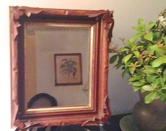 Antique Eastlake Mirror Carved Walnut - 19th Century