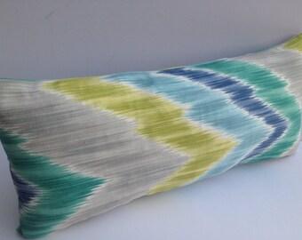 Chevron 8X18 Blue Green Pillow Cover