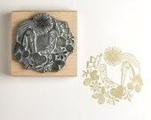 Christmas Rubber Stamp Nativity Garland