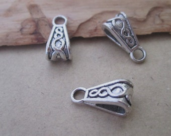 20pcs of antique silver Pendant buckle 7mmx15mm