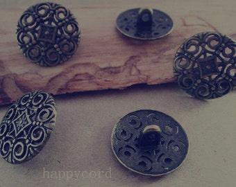 20pcs of Antique bronze metal  button  18mm