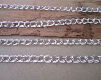 2m(6.5ft)  Silver color chain 4mmx5mm