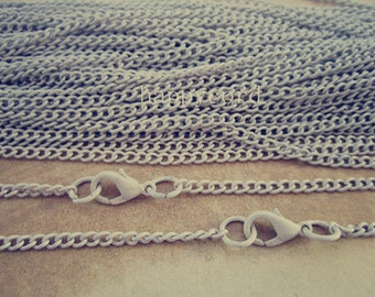 20pcs 27 inches white color Link  chain 2mmx3mm