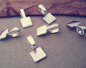 30pcs Silver color Dotted Toggle Clasps  7mmx15mm