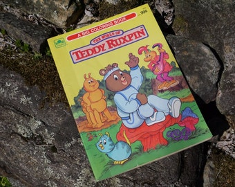 Vintage The World of Teddy Ruxpin Coloring Book 1986