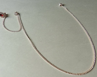 Single Chain Clip on Earring Necklace
