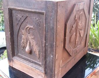 Three sided delight ~ timber storage box