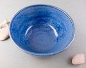 Small limestone blue bowl