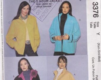 2001 McCalls Palmer Pletsch Jacket,  Dress Pattern No 3376 Size Xsm, Sml, Med, Uncut, Factory Folded