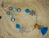 1# FROZEN Inspired Elsa Chunky Bead Necklace
