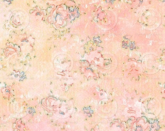Printable Background Shabby Chic Vintage Floral Design Sheet  as an instant Digital Download File