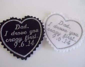 Personalized Embroidered Mens Wedding Tie Label Patch