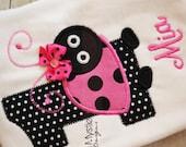 Hot pink Ladybug shirt onesie-hot pink Ladybug birthday shirt-Ladybug Birthday-first birthday ladybug-ladybug birthday shirt