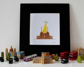 Battersea Power Station London Gocco Print