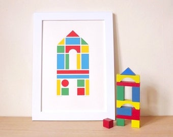 Alphabet Poster, Kids Bedroom Print, Nursery Wall Art, Fun Kids Room Decor, Custom Alphabet Bedroom Print, Baby Name Print Personalised Art