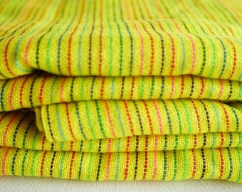 "Fabric bright Yellow striped 31"" width by one yard"