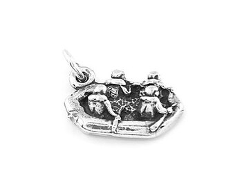 Sterling Silver Raft / Rafter / Rafting Charm (3d Charm)