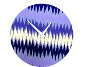 Wall Clock, Purple and Gold, Ombre Wall Art,  Decor and Housewares, Home and Living, Home Decor, Housewarming Gift