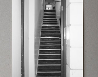 Minimal Staircase Decor Hallway Art Monochrome Print Simplistic Black and White Photography Fine Art Photo Prints Minimalist Gift For Him