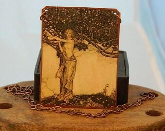 Freya necklace or pendant Freya jewelry wearable art Norse Mythology