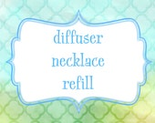 Essential Oil Diffuser Necklace REFILL Leather Discs