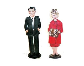 Rock and Doris Pillow Talk Hand Painted 2D Art Figurines