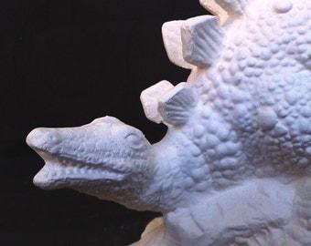 Ready to Paint Ceramic Bisque Stegosaurus Dinosaur Armor Plated Dino Unpainted Ceramic Bisque Paint Your Own Pottery U Paint Ceramic Bisque