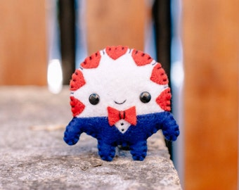 Felt Peppermint Butler - Pocket Plush toy