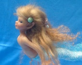 "Tiny Swimming Mermaid, Original Art Doll, ""Ren"""