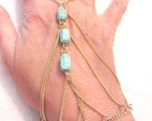 Semi-Precious Turquoise Slave Harem Bracelet