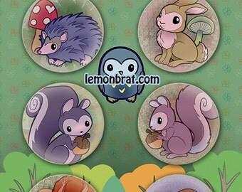 6 Button Set - Little Critter Set