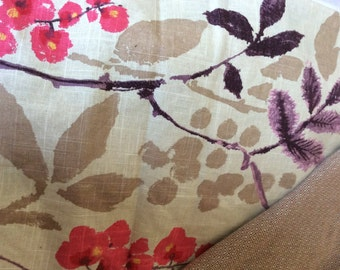Wrap conversion mei tai from Girasol Sandrose and floral printed canvas.