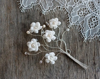 62_Rustic boutonniere, Flower boutonniere, Silver boutineer, For groom, Groom accessories, Rustic wedding, Wedding accessories groom, Floral