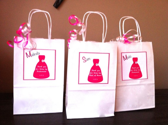 Bridesmaid gift bag bridesmaid gift wedding party gift thank you for ...