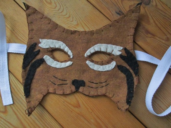 Show Me A Picture Of A Bobcat >> Bobcat Felt Mask Realistic Animal Costume Mask