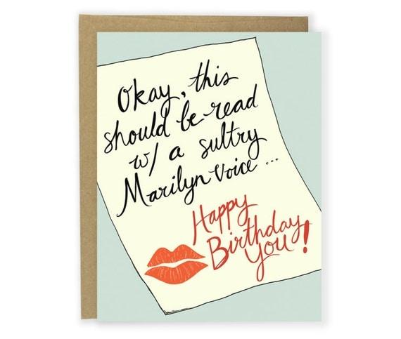 Birthday Card Marilyn Voice Happy Birthday Funny Birthday – Happy Birthday Cards Boyfriend