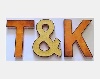 Monogram Initials Ampersand Custom Colors Wedding Photo Prop