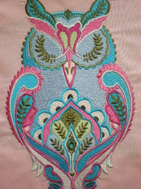 Extra Large Embroidered Tula Pink Full Moon Forest Owl Quilt