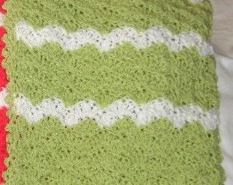 Baby blanket in citrus colors