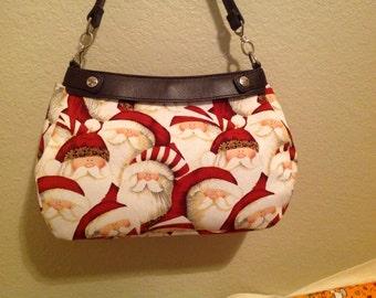 Santa face SUITE skirt Purse Skirt HANDMADE Thirty One skirt handmade