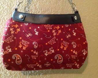 Virginia Tech suite purse skirt cover handmade thirty one