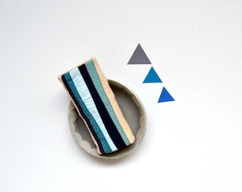 Blue Kitchen Towel, Blue Towel, Modern Towel, Waves, Indigo, Hostess Gift