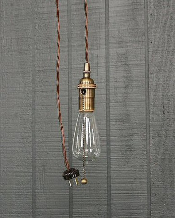 ampoule nue industriel luminaire suspendu pull chain douille. Black Bedroom Furniture Sets. Home Design Ideas