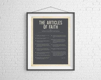 LDS Print: The Articles of Faith